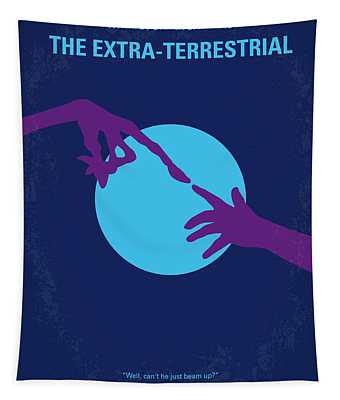 No282 My Et Minimal Movie Poster Tapestry