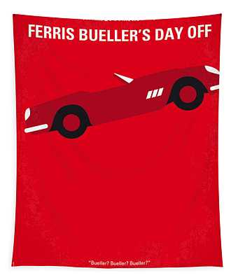 No292 My Ferris Bueller's Day Off Minimal Movie Poster Tapestry