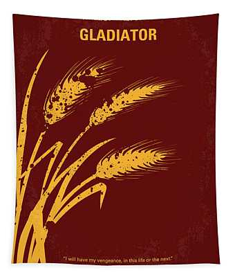 No300 My Gladiator Minimal Movie Poster Tapestry