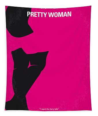 No307 My Pretty Woman Minimal Movie Poster Tapestry