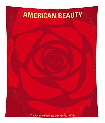 No313 My American Beauty Minimal Movie Poster Tapestry