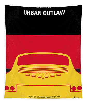 No316 My Urban Outlaw Minimal Movie Poster Tapestry