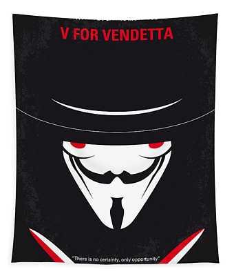 No319 My V For Vendetta Minimal Movie Poster Tapestry