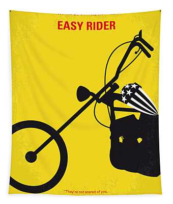 No333 My Easy Rider Minimal Movie Poster Tapestry