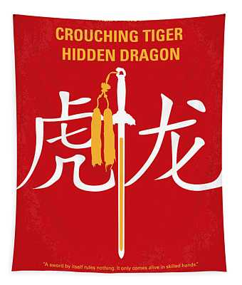 No334 My Crouching Tiger Hidden Dragon Minimal Movie Poster Tapestry