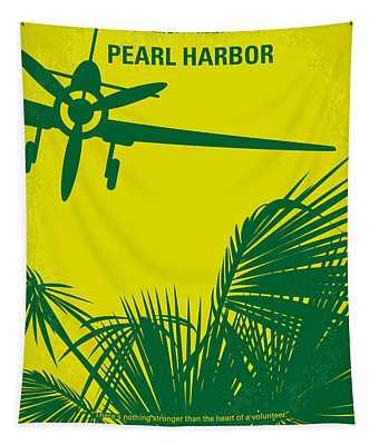 No335 My Pearl Harbor Minimal Movie Poster Tapestry