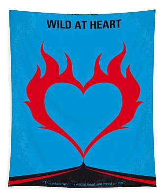 No337 My Wild At Heart Minimal Movie Poster Tapestry