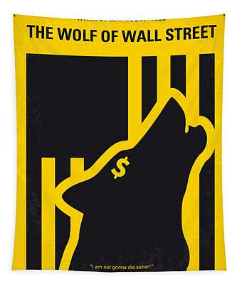 No338 My Wolf Of Wallstreet Minimal Movie Poster Tapestry