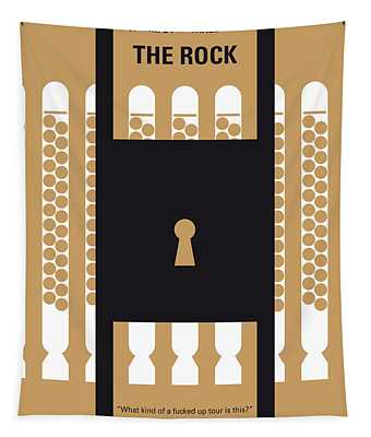 No339 My The Rock Minimal Movie Poster Tapestry