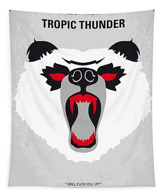 No344 My Tropic Thunder Minimal Movie Poster Tapestry