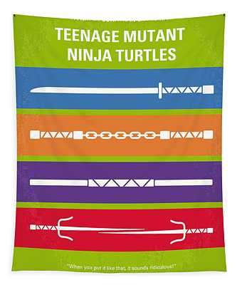 No346 My Teenage Mutant Ninja Turtles Minimal Movie Poster Tapestry