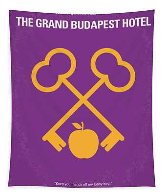 No347 My The Grand Budapest Hotel Minimal Movie Poster Tapestry