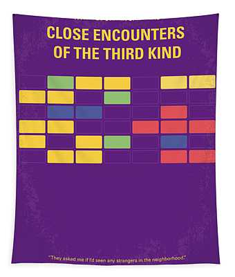 No353 My Encounters Of The Third Kind Minimal Movie Poster Tapestry