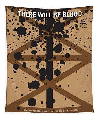 No358 My There Will Be Blood Minimal Movie Poster Tapestry