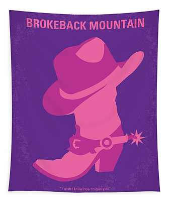 No369 My Brokeback Mountain Minimal Movie Poster Tapestry