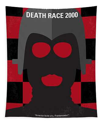 No367 My Death Race 2000 Minimal Movie Poster Tapestry