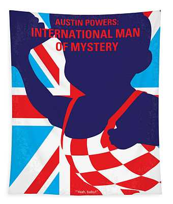 No373 My Austin Powers I Minimal Movie Poster Tapestry