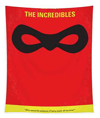 No368 My Incredibles Minimal Movie Poster Tapestry