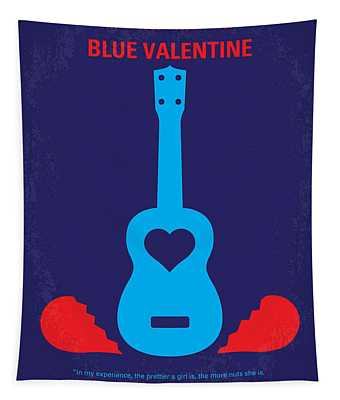 No379 My Blue Valentine Minimal Movie Poster Tapestry