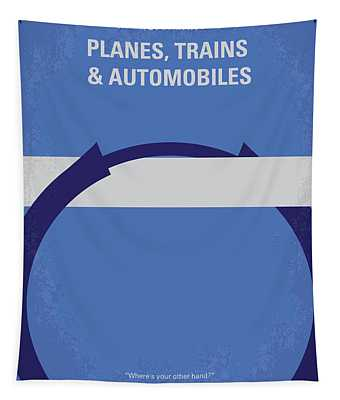 No376 My Planes Trains And Automobiles Minimal Movie Poster Tapestry