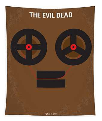 No380 My The Evil Dead Minimal Movie Poster Tapestry
