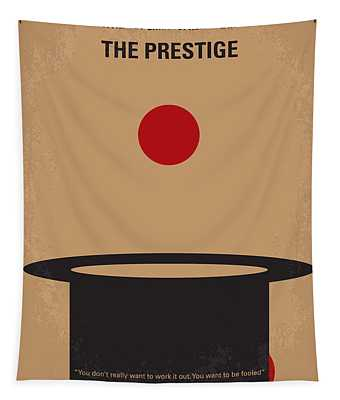 No381 My The Prestige Minimal Movie Poster Tapestry
