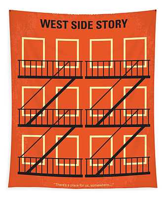 No387 My West Side Story Minimal Movie Poster Tapestry