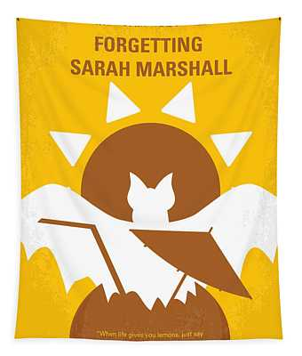 No393 My Forgetting Sarah Marshall Minimal Movie Poster Tapestry