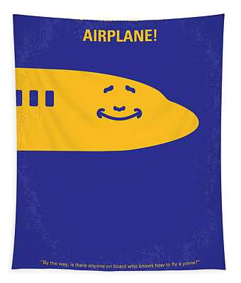 No392 My Airplane Minimal Movie Poster Tapestry
