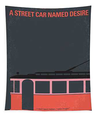 No397 My Street Car Named Desire Minimal Movie Poster Tapestry