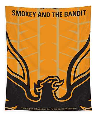 No398 My Smokey And The Bandits Minimal Movie Poster Tapestry