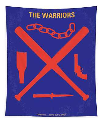 No403 My The Warriors Minimal Movie Poster Tapestry