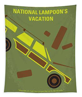 No412 My National Lampoons Vacation Minimal Movie Poster Tapestry