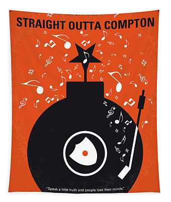 No422 My Straight Outta Compton Minimal Movie Poster Tapestry