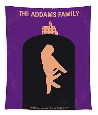 No423 My The Addams Family Minimal Movie Poster Tapestry