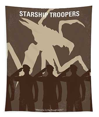 No424 My Starship Troopers Minimal Movie Poster Tapestry
