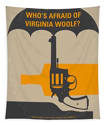 No426 My Whos Afraid Of Virginia Woolf Minimal Movie Poster Tapestry
