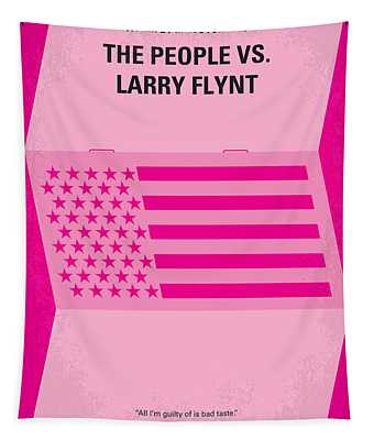 No395 My The People Vs Larry Flint Minimal Movie Poster Tapestry