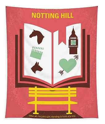 No434 My Notting Hill Minimal Movie Poster Tapestry