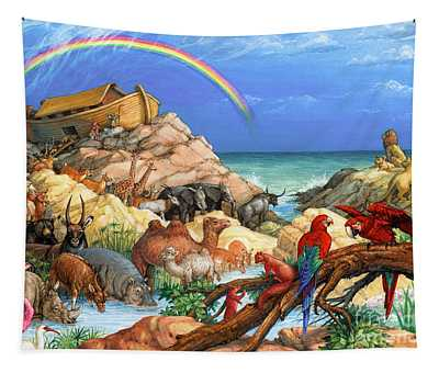 Noah And The Ark Tapestry