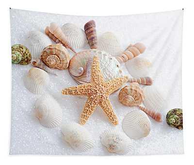North Carolina Sea Shells Tapestry