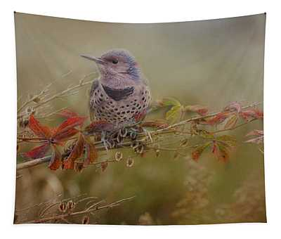 Northern Flicker In Fall Colors Tapestry