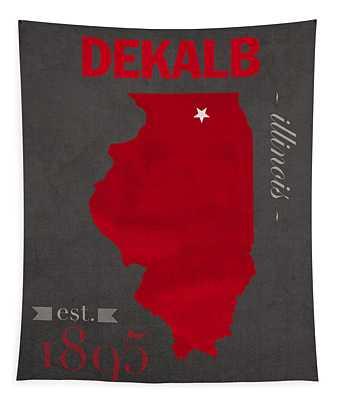 Northern Illinois University Huskies Dekalb Illinois College Town State Map Poster Series No 079 Tapestry