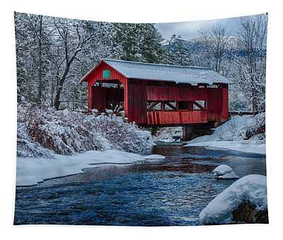 Northfield Vermont Covered Bridge Tapestry