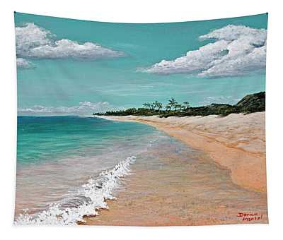 Tapestry featuring the painting Northshore Oahu  by Darice Machel McGuire