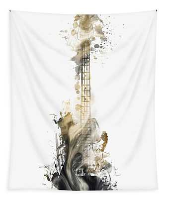 Nostalgy Guitar Watercolor Instrument Tapestry