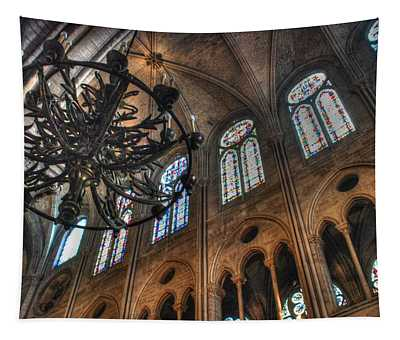 Notre Dame Interior Tapestry