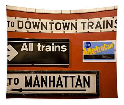 Nyc Subway Signs Tapestry