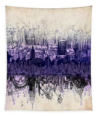 Nyc Tribute Skyline 2 Tapestry