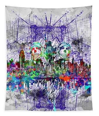 Nyc Tribute Skyline 4 Tapestry